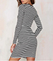 Striped Shift Dress – Black and White / Solid Black Ties