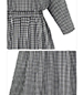 Knee Length Dress – Black and White Checks / Button Back