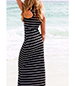 Striped Maxi Dress – T-Bone Back / Striped Print