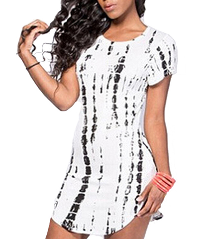 Screen Print Party Dress – Black Print /White