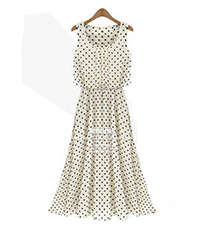 Sweet Spot Summer Dress – Polka Dotted Style / White Black
