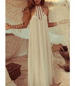 Beach Maxi Dress – Backless / Spaghetti Straps / Sheer Crochet Lace Bodice / Floor Length