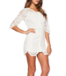 White Colored Dress – Rounded Neck / Lace Features