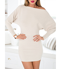 Mini Dress – Winter White / Off Shoulder