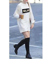 Mini Dress – White / Milano Graphic