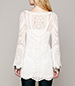 Long Sleeved Lace Mini Dress – Off White