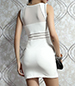 White Mini Dress – Sheer Panels / Cutout Detailing