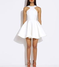White Summer Halter Dress – Cross My Heart