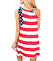 Casual Drawstring Dress – Broad Stripes in Red and White / Contrasting Tie