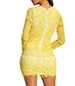 Yellow Clubbing Dress – Deep V Neckline / Lace Overlay